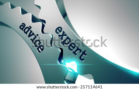 Expert Advice on the Mechanism of Metal Gears. - stock photo