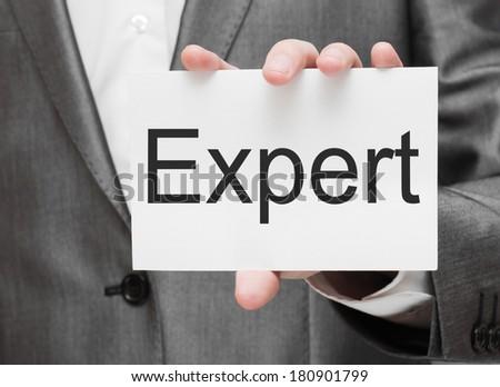 Expert concept - stock photo