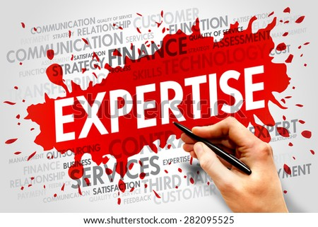 Expertise related items words cloud, business concept - stock photo