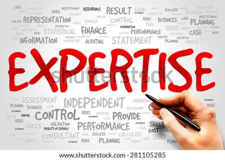 EXPERTISE word cloud, business concept - stock photo