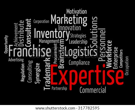 Expertise Word Indicating Wordclouds Experts And Wordcloud