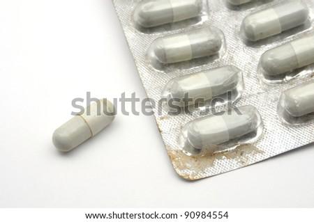 expired medicine - stock photo