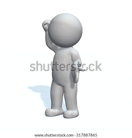 Explain  - 3D People isolated - stock photo