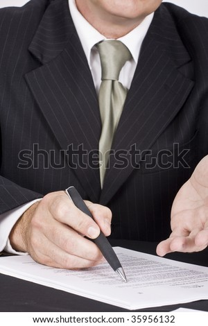 explanation - stock photo