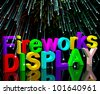 Exploding Fireworks Display For New Years Or Independence Celebration - stock photo