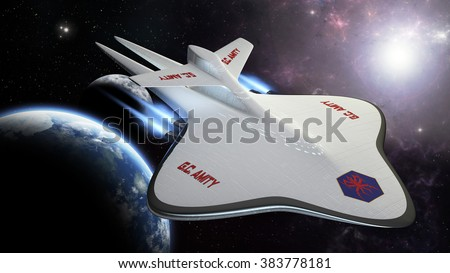 exploration concept spaceship 3D rendering amity