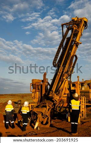 Exploration Drilling  - stock photo