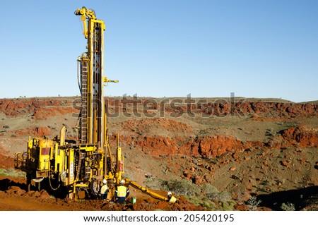 Exploration RC Drilling - stock photo