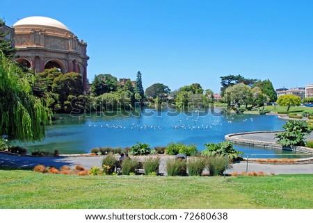 Exploratorium and Palace of Fine Art in San Francisco. - stock photo