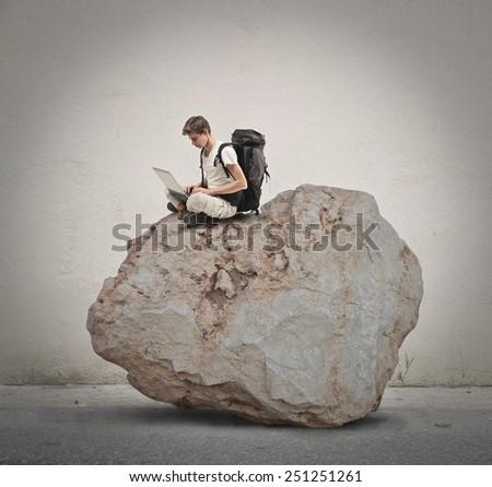 Explorer surfing the Net  - stock photo