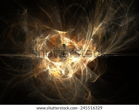 Explosion abstract fractal effect light design background