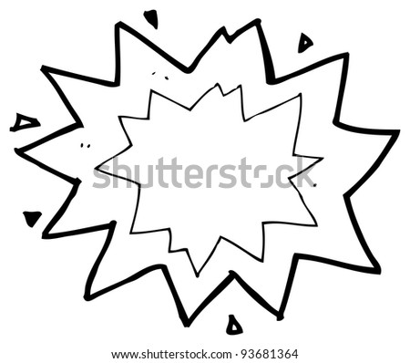 explosion cartoon symbol (raster version)