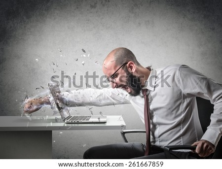 explosion of anger  - stock photo