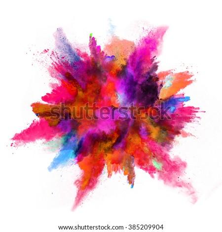 Explosion colored powder on white background stock photo - Nuancier de blanc ...