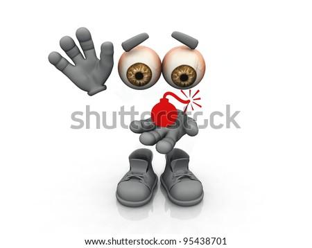 explosion  symbol on a white background - stock photo