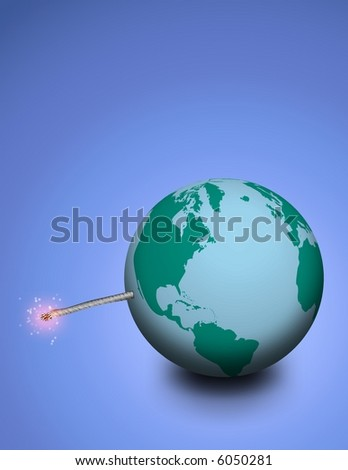 Explosive earth - stock photo