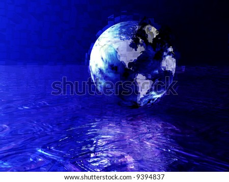 explosive earth over water