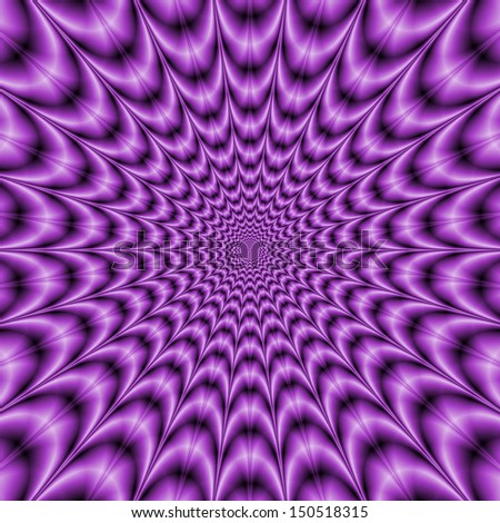 Explosive Web in Purple / Digital abstract fractal image with an optically challenging explosive web design in purple.  - stock photo