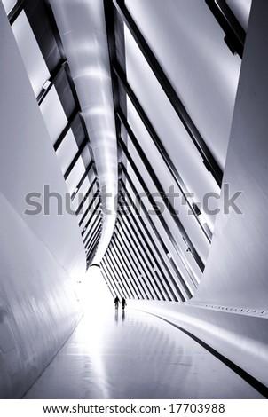Expo Zaragoza footpath bridge pavilion - stock photo