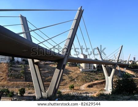 Express bridge in Jordan - stock photo