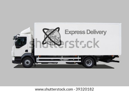 Express delivery truck - stock photo