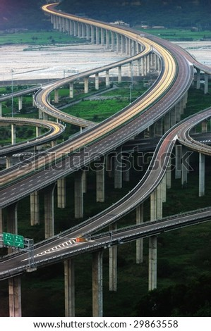 express highway - stock photo