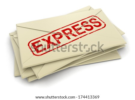 Express letters  (clipping path included)