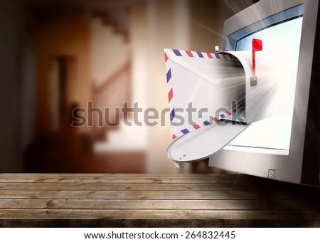 express mail - stock photo