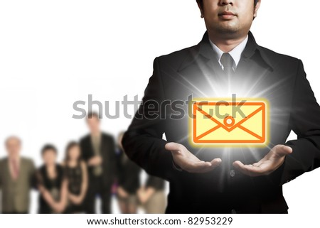 Express Mail in the business - stock photo