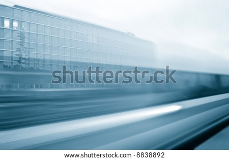 Express train on high speed