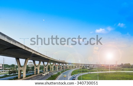 Express way of Bangkok in Thailand