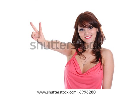 expressing females success positivity girls sign hand