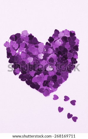 Expression of love to the dearest   / Hearts of love / Celebrating Mother's day or Valentine day - stock photo