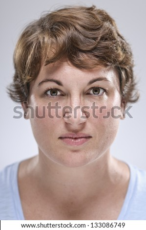 Expressions/ Bitter Stare - stock photo