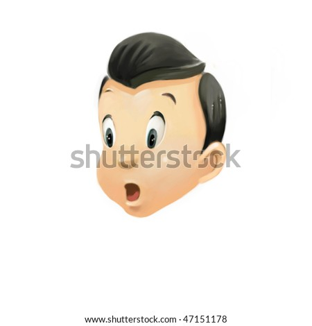expressions collection 1 - surprised (search the word nikos for more) - stock photo