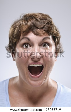 Expressions/ Excited Surprise - stock photo