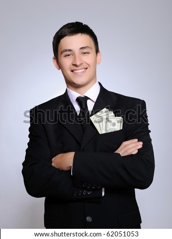 Young Handsome Business Man Black Suit Stock Photo 61698448 ...