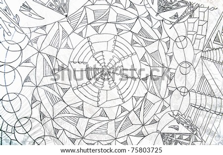 expressive abstract - stock photo