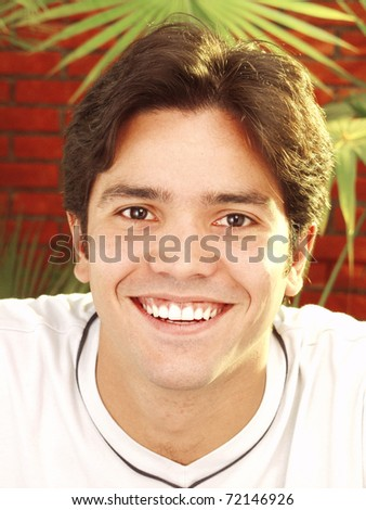 Expressive young man portrait. - stock photo
