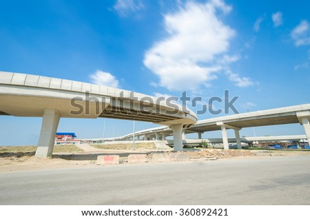 Expressway at the bright sky