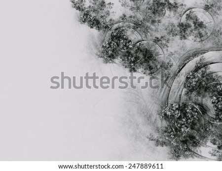 Exquisite unusual abstract background in vintage style - stock photo