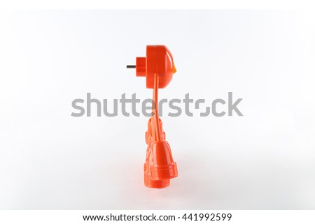 extension cable - stock photo