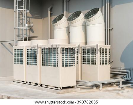 exterior aircondition - stock photo