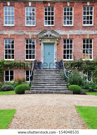 Exterior Of Beautiful Red Brick House Stock Photo Pictures To Pin On