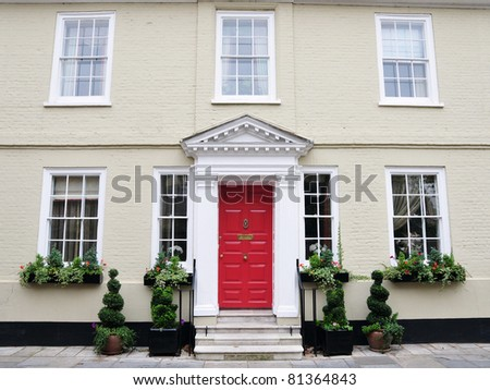 Exterior of a Luxury Town House - stock photo