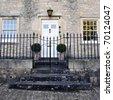 Exterior of an Attractive English Town House Built Circa 1750 - stock photo