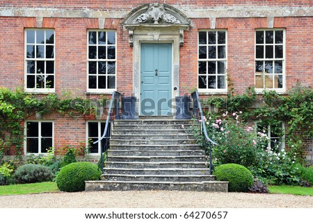 Exterior of Beautiful Red Brick House - stock photo