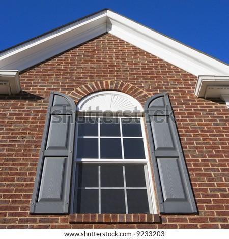 Exterior of brick  house. - stock photo