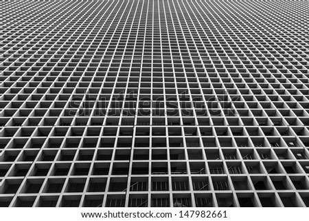 exterior of building with abstract style pattern, - stock photo
