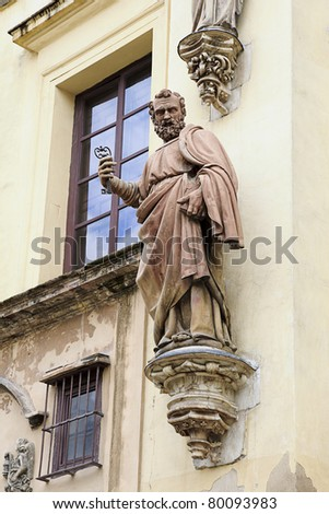 exterior of cathedral in Seville, Spain - stock photo